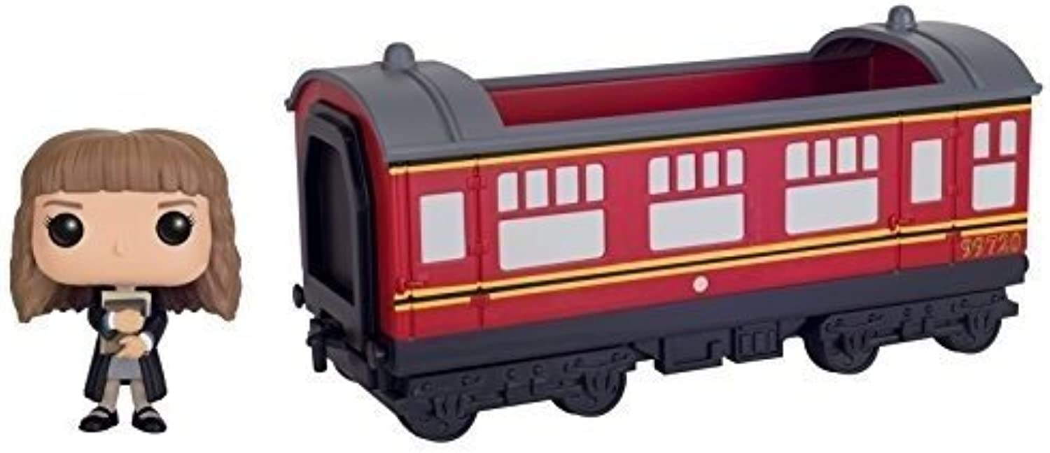 Funko POP Rides  Harry Potter  Hogwarts Express Train car with Hermione Granger Action Figure