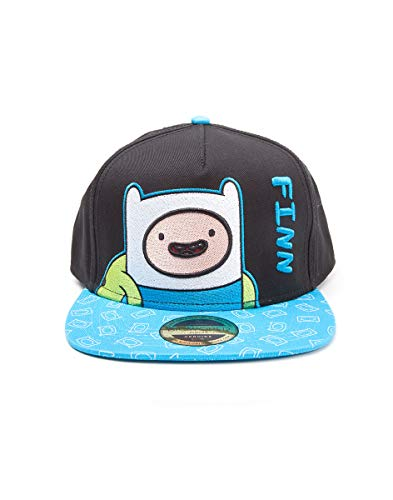 Tiempo de Aventura casquillo del snapback Finn gorra de béisbol azul de algodón negro