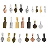 OBSEDE 120Pcs Glue on Bails for Pendants Jewelry Making Necklace Earring Bail Scrabble Making...