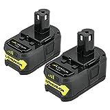 Powayup 2 * 18V 5.0Ah Li-ion Batería de Reemplazo para Ryobi 18V One+ P108 P104 P105 P102 T357 P107 Herramientas