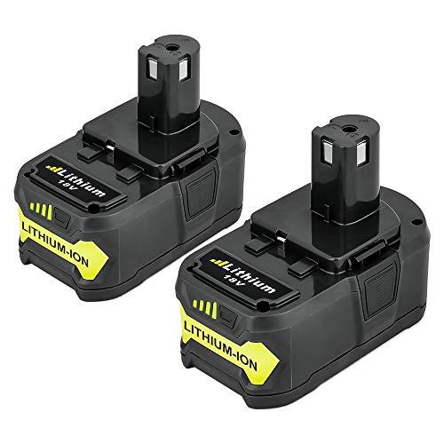 Powayup 2 * 18V 5.0Ah Batería de Reemplazo para Ryobi 18V One+ P108 P104 P105 P102 T357 P107 Herramientas