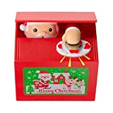 Mansalee Cute Stealing Coin Santa Money Box Money Bank Piggy Bank Coin Bank Santa