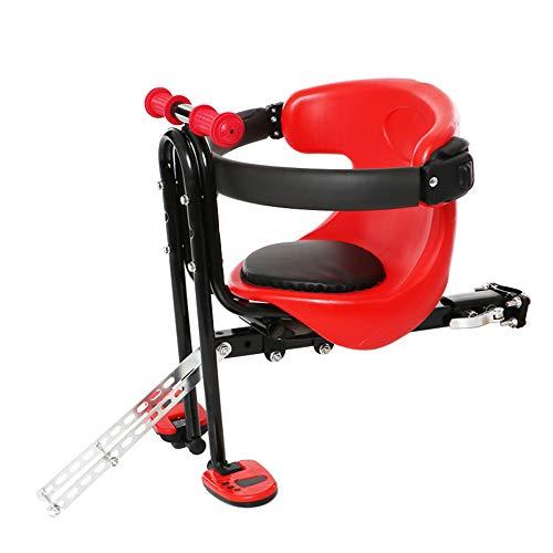 Fietsen Kinderzitjes - Kinderfietsstoeltje - Kinderzitje voor elektrische fiets - Snelle demontage en verstelbare hoogte,Red