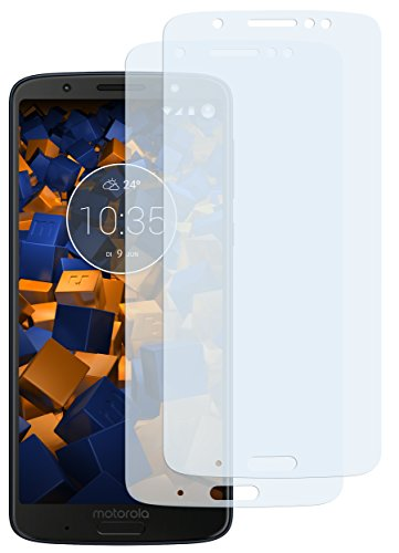 mumbi Schutzfolie kompatibel mit Motorola Moto G6 Plus Folie klar, Bildschirmschutzfolie (2x)