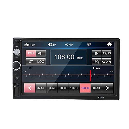 MP5 Radio Car, 7in Car MP5 Player Manos Libres Bluetooth FM Radio con cámara 7010B Auto Parts, Reproducir películas de Alta definición