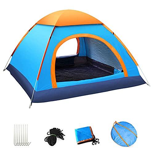テント ワンタッチ 3-4人用 アウトドア用 コンパクト キャンプテント 軽量 防水 設営簡単 XIANRUI 紫外線防止 折りたたみ 展開サイズ:200×200×125㎝ (bl)