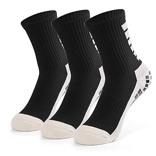 Lixada Die rutschfesten Running Fußball-Socken, der Männer tragen Fußball-hohe Schlauch-Socken 3 Paar zur Schau