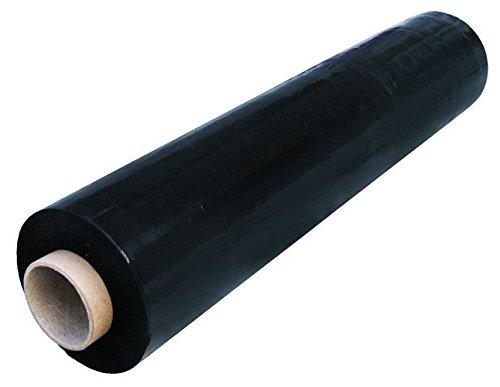 SCHWARZ STRETCHFOLIE VERPACKUNGSFOLIE PLASTIKFOLIE 23my Palettenfolie 3KG 50cm/300m 1 Rolle