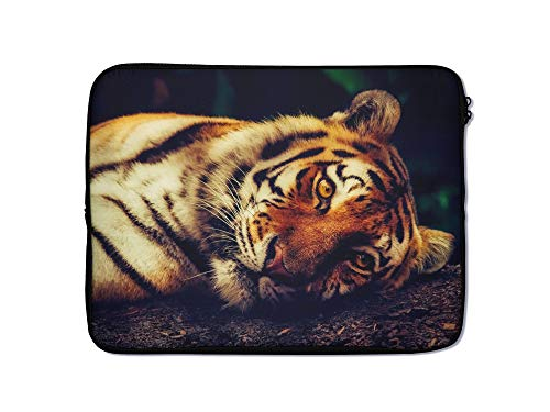Animal Laptop Sleeve Case 10 11 12 13 14 15 15.6 Inch Tablet Computer Protective Zipper Bag Slide Through Pouch - for MacBook Air Pro Dell Lenovo Hp LG Asus Acer Chromebook