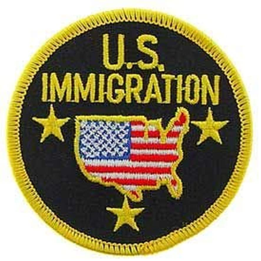 Police, U.S. Immigration - Embroidered Patches, Iron On Patch - 3