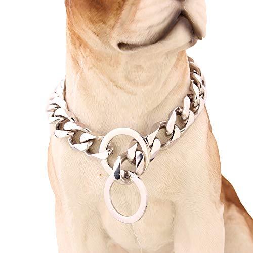 YBWNKD Collar De Cadena De Perro De Acero Inoxidable De Metal, Collares De Cadena para Perros para Perros Grandes,34 Inch