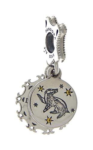 Pandora Harry Potter, Hufflepuff Charm-Anhänger, Silber, 1,37cm, 798832C01