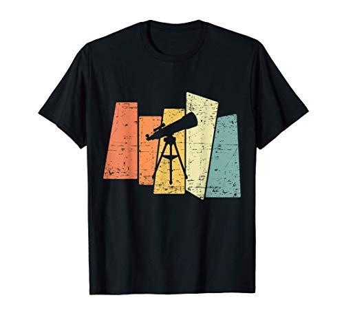 Retro Teleskop Fernrohr Geschenk für Astronomen T-Shirt