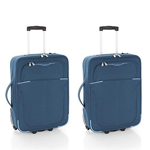 Gabol Pack de dos Maletas, 55 cm, 2 x 30 L, Azul Petróleo