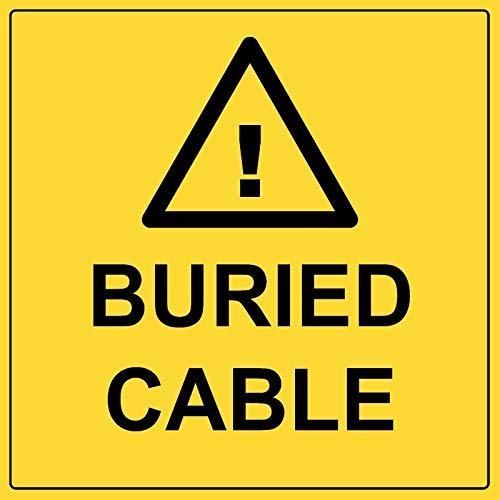 Señal de cable enterrado de aluminio de metal eléctrico peligroso de seguridad...