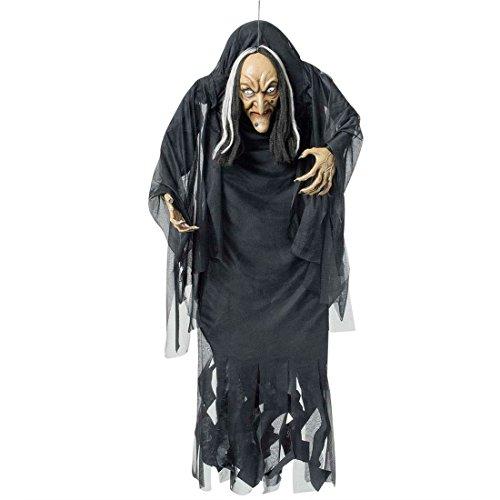 NET TOYS Adorno Bruja de Halloween Figura decoración de Terror Armas artículos de Miedo