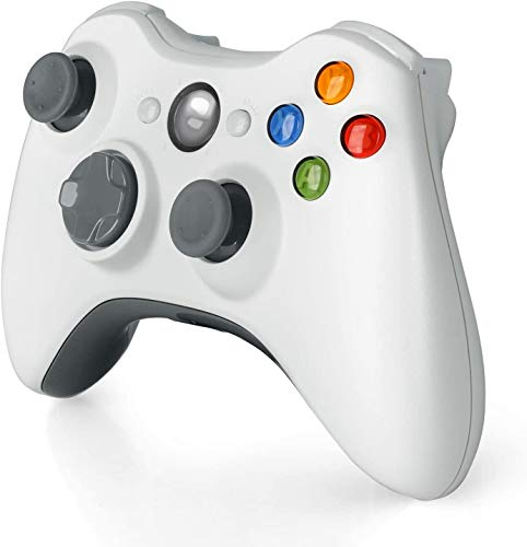 Wireless Controller for Xbox 360, 2.4GHZ Gamepad Joystick Controller Remote for Xbox 360 S Console & PC Windows 7,8,10 (White)