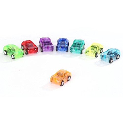 Gankmachine Kinder Transparent Mini Pull Back Car Aufziehspielzeug