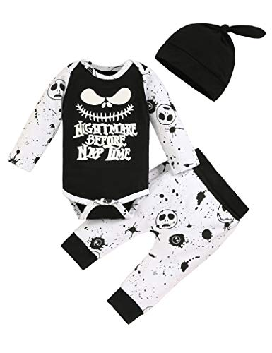 Wexuua Infant Baby Boys Girls Tracksuit Outfits Nightmare Long Sleeve...