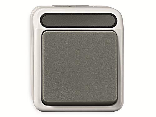 Merten MEG3150-8029 1polig Taster, Schließer 1-polig, lichtgrau, AQUASTAR, 250 V