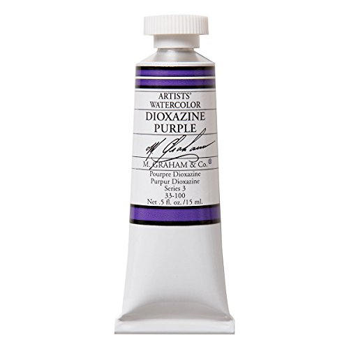 M. Graham 1/2-Ounce Tube Watercolor Paint, Dioxazine Purple