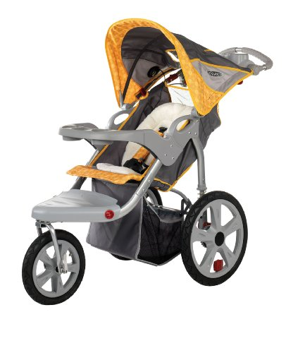 Pacific Cycle Instep Grand Safari Swivel Wheel Jogger, Gray/Yellow