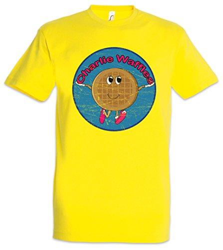 Urban Backwoods Charlie Waffels Herren T-Shirt Gelb Größe L