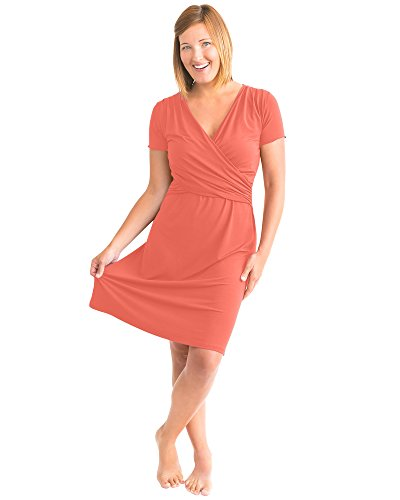 Product Image of the Kindred Bravely Ultra Soft Maternity & Nursing Nightgown Dress (Coral, Medium)
