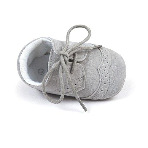 Baby Schuhe Auxma Baby-Jungen-Mädchen-Schuhe PU-Turnschuhe Für 3-6 6-12 12-18 Monat (3-6 M, Grau)