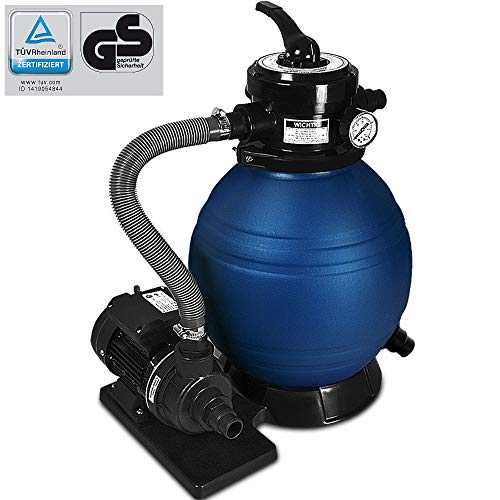 Zandfilter | Doorstroomsnelheid 10200 l/u | Volume zandtank 20 kg | 4-Wegventiel