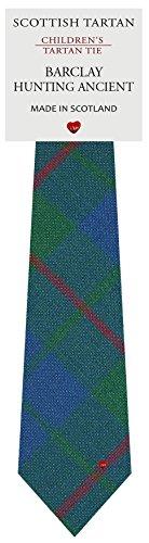 I Luv Ltd Garçon Tout Cravate en Laine Tissé et Fabriqué en Ecosse à Barclay Hunting Ancient Tartan