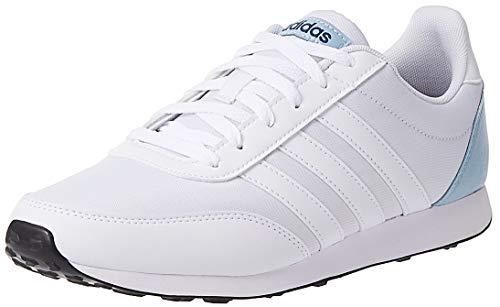 adidas V Racer 2.0, Zapatillas de Running Hombre, Blanco (FTWR White/FTWR White/Ash Grey S18 FTWR White/FTWR White/Ash Grey S18), 48 EU