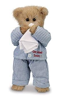 Bearington Illie Willie Plush Stuffed Animal Get Well Soon Teddy Bear 10 inches