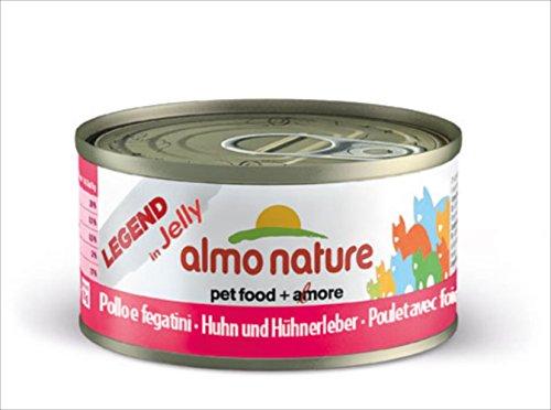 Almo Nature Rouge Label - Lote de 24 filetes de gallina con hígado, 55 g