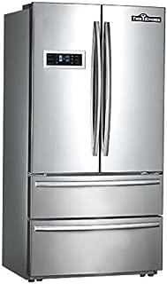 Thor Kitchen Thorkitchen HRF3601F Cabinet Depth French Door Refrigerator, Ice Maker, 36