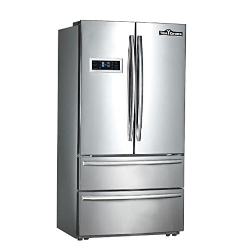 Thor Kitchen Thorkitchen HRF3601F Cabinet Depth French Door Refrigerator, Ice Maker, 36', Stainless Steel