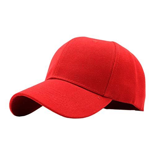 Beiyasi Mya Unisex Plain Blank Color Solid Gorra de béisbol Visera Curva Protector Solar Sombrero Snapback Deportes Viajar Gorra de béisbol Rojo