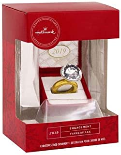 Hallmark Engagement 2019 Ring in Red Box Christmas Tree Ornament