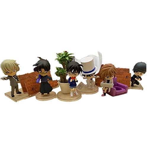 From HandMade Detective Conan Figura Chibi Figura Anime Figura 6pcs / Lot