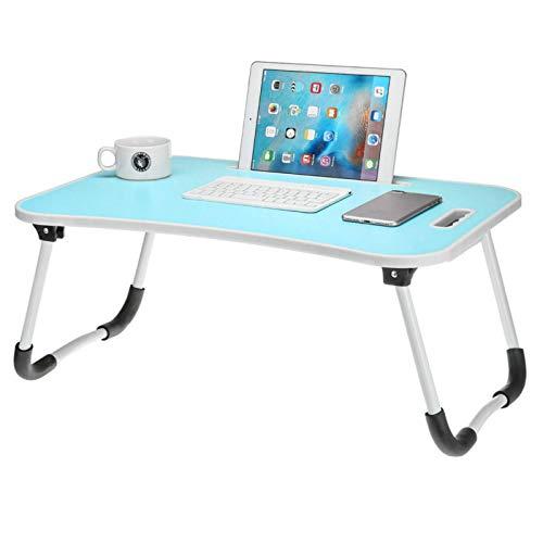 Huangjiahao Mesa plegable de picnic plegable para ordenador portátil, mesa de ordenador, sofá de escritorio, para comedor, cocina, picnic, al aire libre (tamaño único; color: azul)