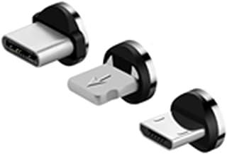 UGI 3-Pack Type-C, Micro USB, iOS Adaptador de Enchufe Magnético Cabezal de Punta de Conector para Cable de Carga Magnético