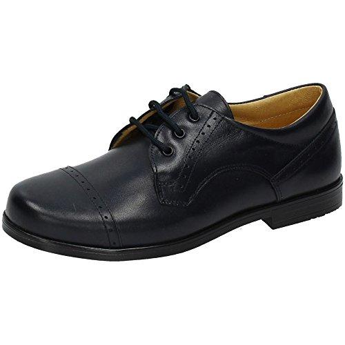 YOWAS 6304 Zapatos DE COMUNIÓN NIÑO Zapato COMUNIÓN Marino 36