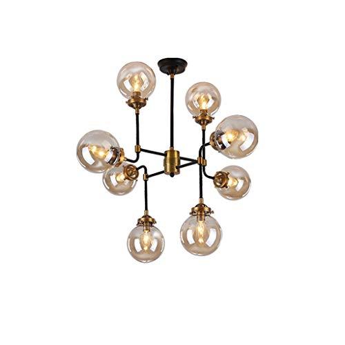 HTL Postmodern 8 Cabezal Lámpara de Burbuja Lámpara de Techo Led, Ambiente Led Simple Ambiente de Sala de Estar Iluminación E14 Restaurante Chandelier Iluminación Interior