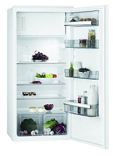 AEG SFB51221AS Kühlschrank/großer Einbaukühlschrank mit Gefrierfach/173 l Kühlraum/14 l 4-Sterne Gefrierfach/sparsamer Kühlschrank mit Glasablagen & LED-Beleuchtung /Energieklasse G/H: 122,5 cm/Weiߟ