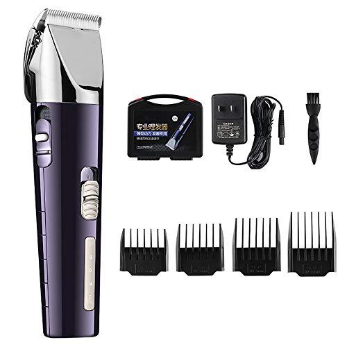 Professional oplaadbare elektrische tondeuse Titanium Head Barber Hair Trimmer voor mannen Smart Hair Cutting Machine,Purple