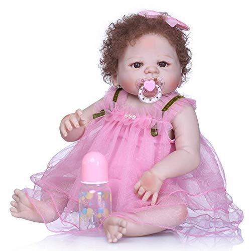 SERBHN 22 Pulgadas Bebé Reborn Muñeca Simulación Cuerpo Silicona Bebé Muñeca Bebé Muñecas Niños Juguetes para Niños Cumpleaños, Regalo-Default