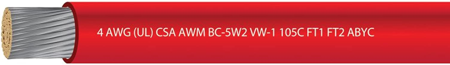 EWCS 4 AWG UL Approved Marine Grade Tinned Copper Boat Battery Cable Rated 600 Volts Spec - Made in USA!