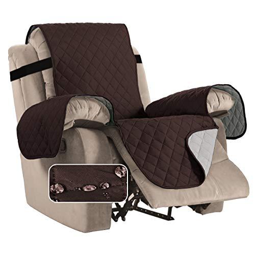 Fundas Impermeables para sillas reclinables para sillones Fundas reclinables para sillas de Cuero Fundas reclinables para sillas Protect (Sillón reclinable, marrón/Beige)