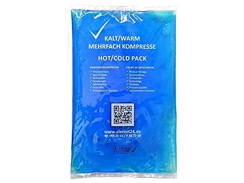 2 Stück 21 cm x 38 cm Kalt-Warm Kompresse Mehrfach kompresse Wiederverwendbar Coolpack Mikrowellen geeignet