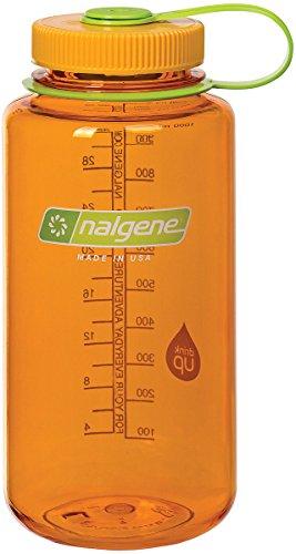 Nalgene Tritan Wide Mouth BPA-Free Water Bottle, Clementine, 32 oz